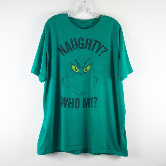 6a49765ac The Grinch Shirts | Grinch Naughty Who Me Christmas Graphic Tshirt ...
